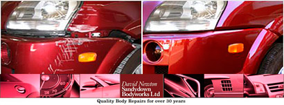 Sandydown body works body shop Winchester Andover Stockbridge