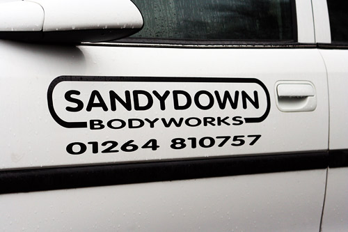 Sandydown bodyworks courtesy car